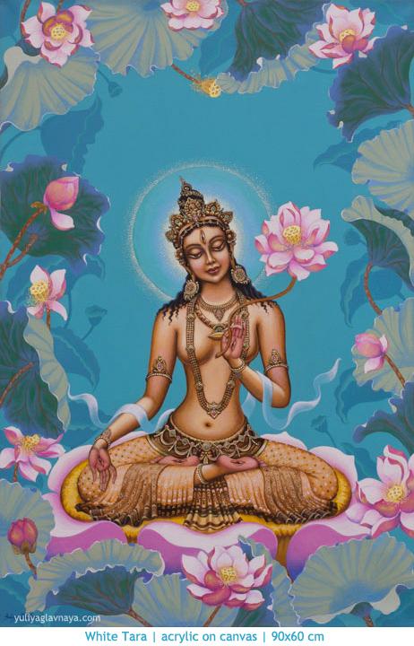original yoga painting omwoman yoga meditate. Click To Enlarge Image Tara-white-tara-buddha-meditation-bodhisattva- Original Yoga Painting Omwoman Meditate R